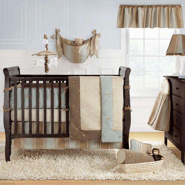 Unobnoxious Boys Crib Bedding Set Brown Tan And Baby