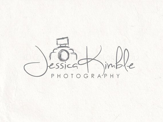 Photography logo design sketched camera logo. by AquariusLogos, $25.00