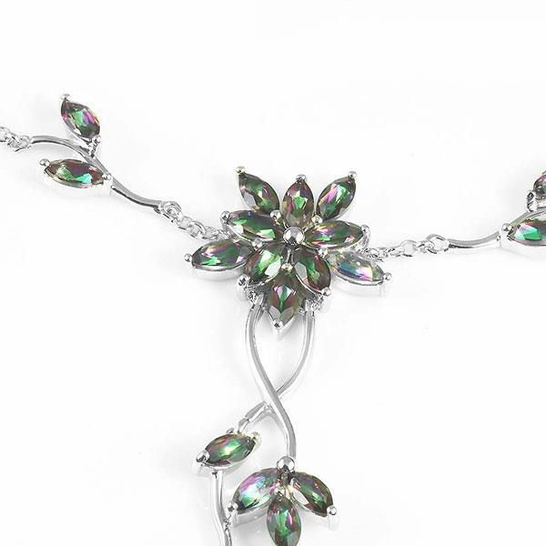 5.2ct Mystic Rainbow Topaz Necklaces Genuine 925 Sterling Silver Only $89 => Save up to 60% and Free Shipping => Order Now! #Bracelets #Mystic Topaz #Earrings #Clip Earrings #Emerald #Necklaces #Rings #Stud Earrings