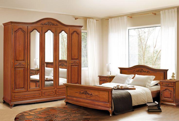 Mobila / Mobilier Dormitor clasic lemn Anca nuc/stejar