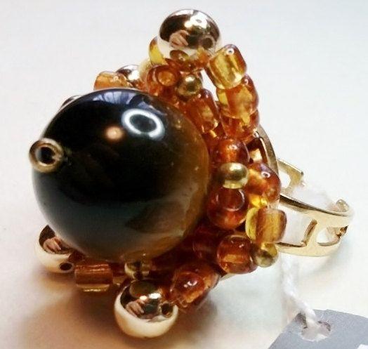 Anello Occhio di Tigre  OOAK di jewelrysoutache su Etsy, €18.00