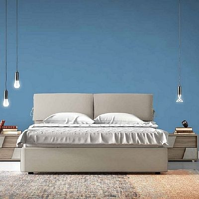 Contemporary, elegant 'Vega' bed by Orme