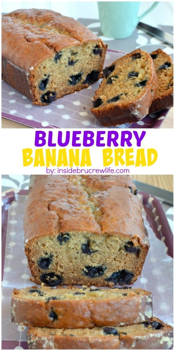 This banana bread gets a healthy update with oats, yogurt, and blueberries. Great for breakfast!