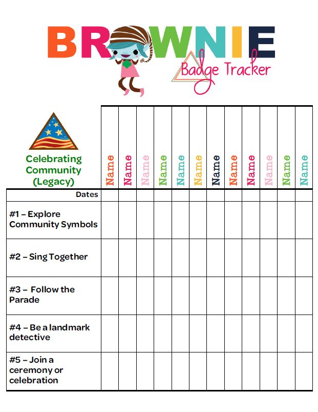 As Promised! Finally a Brownie Badge Tracker!