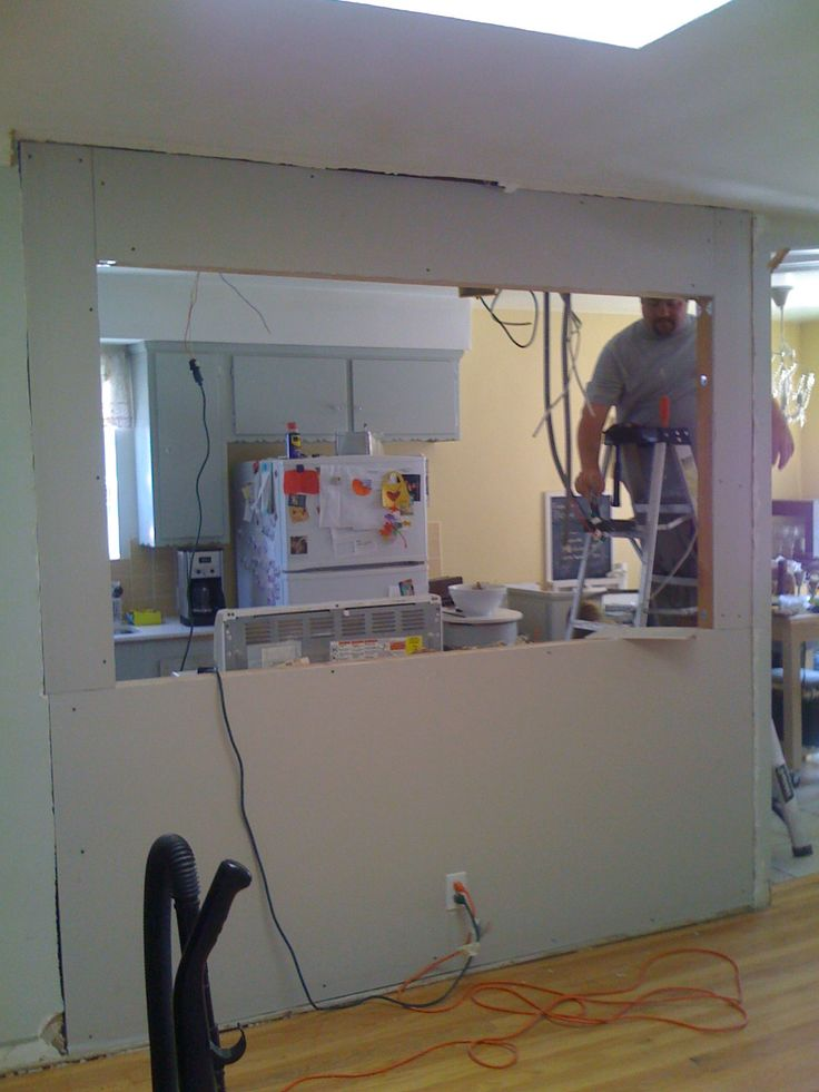 My Fifties Kitchen Redo: KNOCKING OUT A WALL TO INSTALL A BAR