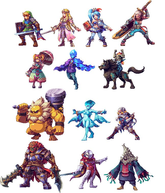 Fan Recreates Hyrule Warriors' Characters in 2D - I AM SO EXCITED FOR THIS GAME
