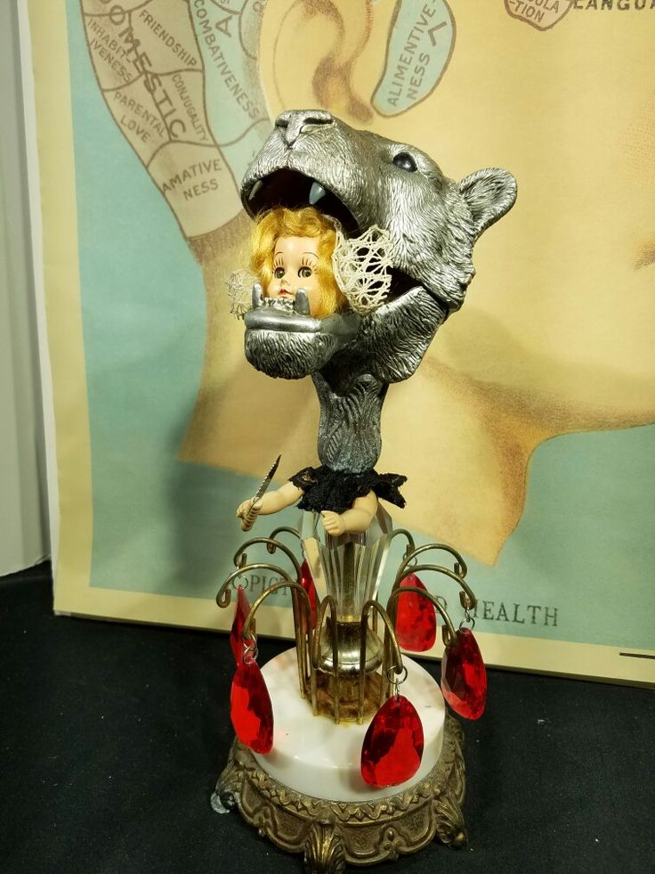 "Scavenged PARTs most recent handmade piece entitled ""The Lion Tamer"""
