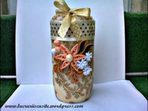 Candele si suporturi decorate in quilling---Candles and holders decorate...