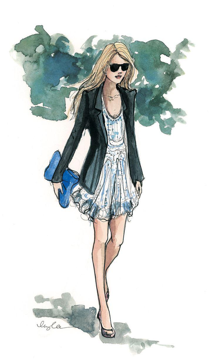 Inslee September Girl, floaty dress with a blazer