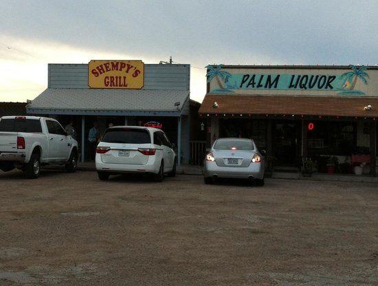 Shempy's Grill, Rockport. Great crab patties & crab burger. Seen on Texas Bucket List