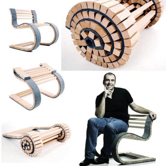 A chair that rolls like a carpet!
