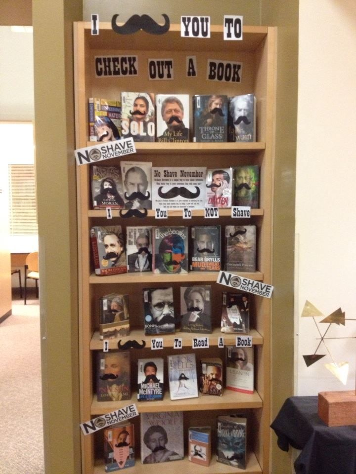 No-Shave November Display