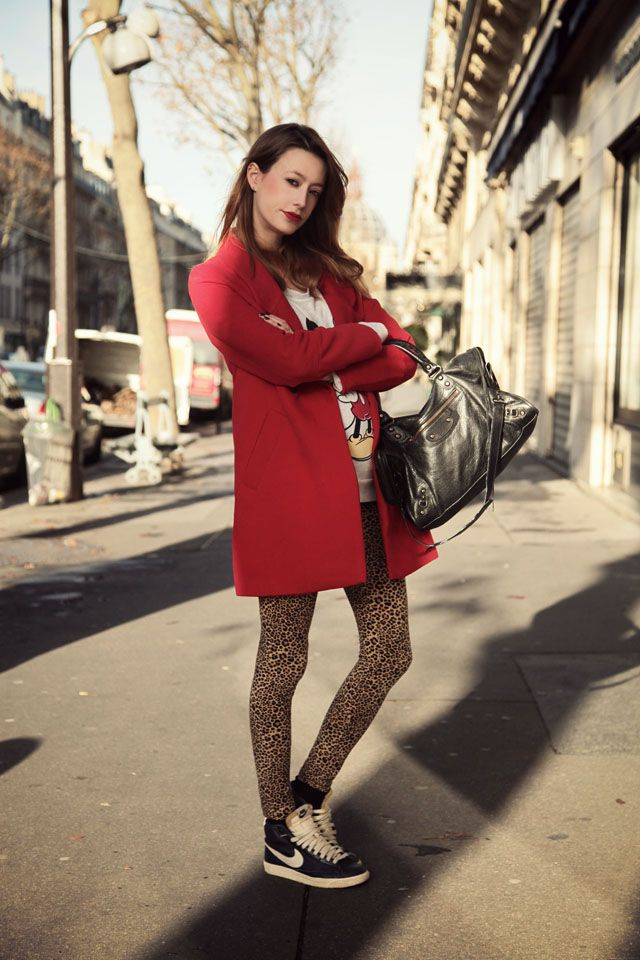 Marie from the blog Into Your Closet http://intoyourcloset.blogspot.fr/2013/12/red-coat.html