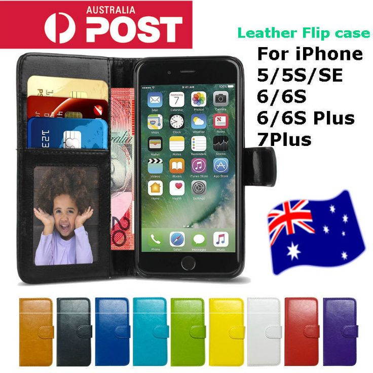 NEW Flip Leather Wallet Stand Case Cover for Apple iPhone 5/5S, SE, 6/6S 7Plus