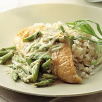Chicken and Asparagus With Melted Gruyere