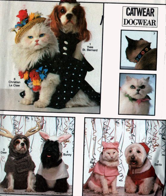 Simplicity 8936 CAT & DOG Costumes Pattern S-M-L Uncut by sandritocat on Etsy