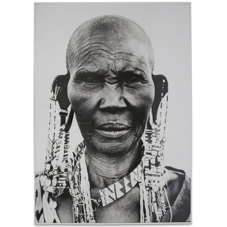 Tribal African Woman Black & White Wall Art $290.90