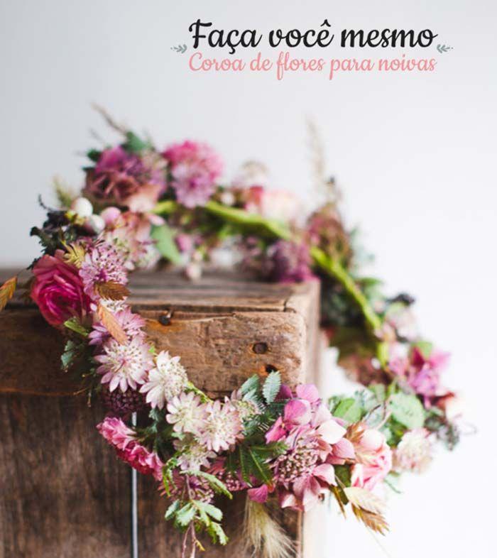Faça você mesmo: coroa de flores para noivas | http://www.blogdocasamento.com.br/faca-voce-mesmo-coroa-de-flores-para-noivas/