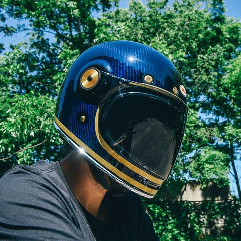 Bell Limited Edition Bullitt Helmet Carbon - Candy Blue - Revival Cycles - 1