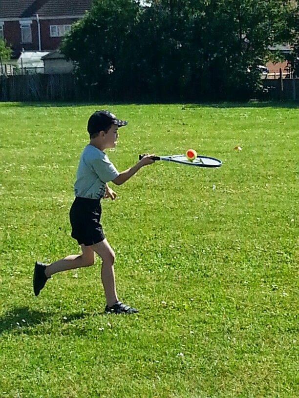 Ethan during sports day today !!