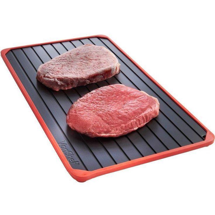 Defrost tray frozen meat food defrosting rapid aluminium