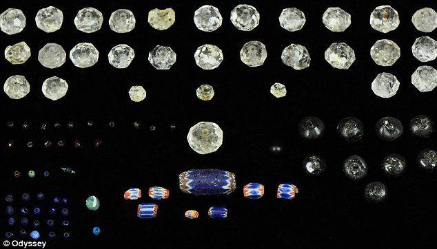 Galeon N.Señora del Rosario- Una selección de las joyas y piedras preciosas que se transporta desde el Nuevo Mundo al Viejo