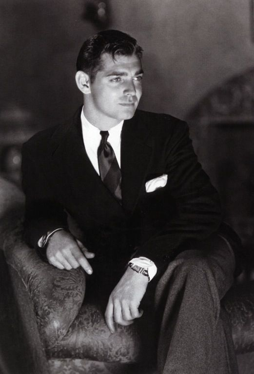 Old Hollywood-Clark Gable.  So young.