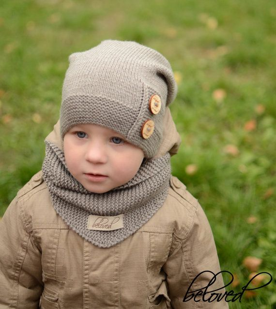 Knitted Kids Slouchy Hat, Warm Kids Beanie, Toddler Boy Hat, Toddler Girl Beanie, Warm Winter Kids Hat, Baby Boy Beanie, Knit Baby Girl Hat