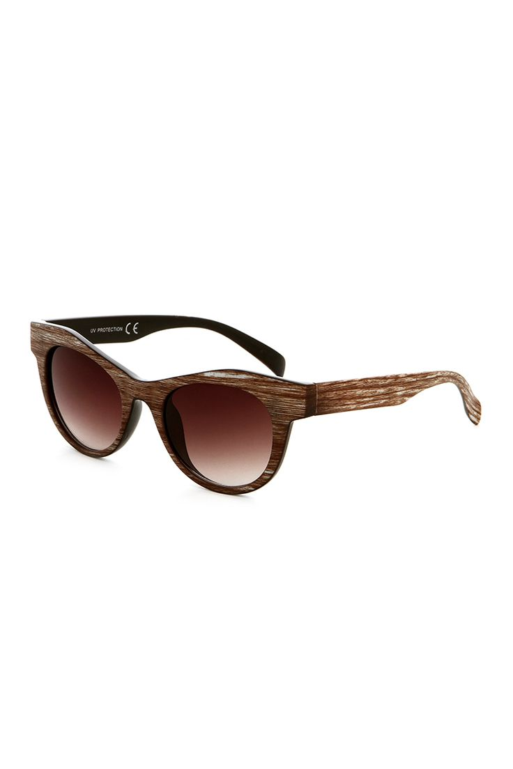 Wooden Style Cat Eye Shades