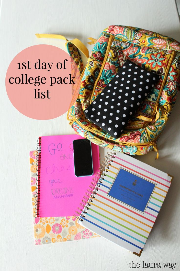 17 best ideas about college semester college study 1st day of college pack list