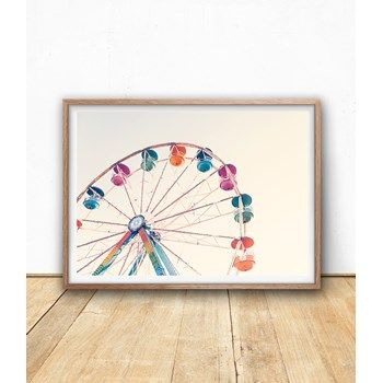 Ferries Wheel Photography Printable, Paster, Colorful Instant Download Poster from Sisi & Seb at www.printablez.ca