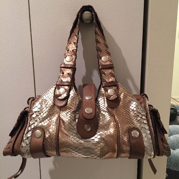 Chloe Silverado metallic silver \u0026amp; gold python bag | Chloe Bag ...