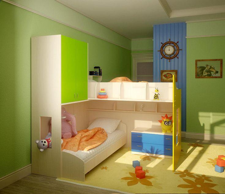 планировка детской комнаты для двоих детей фото угловая планировка кроватей: 18…