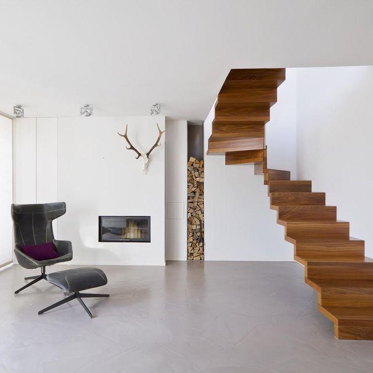 Tangga Rumah Kayu Minimalis 2 Lantai Model Melayang Dengan Gaya Modern Terbaru