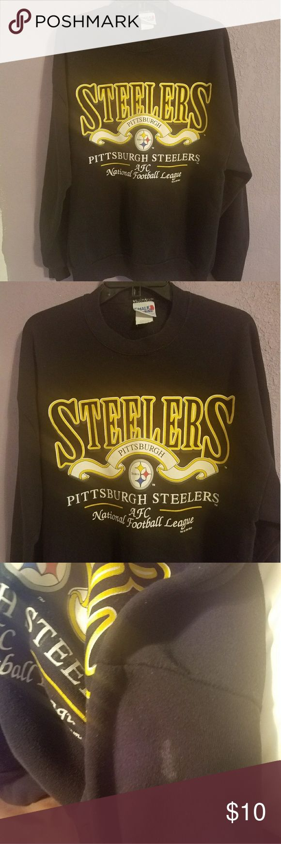 Vintage Steelers hoody Vintage men's hoody. In good used condition. Small stain in picture shown Vintage Shirts Sweatshirts & Hoodies