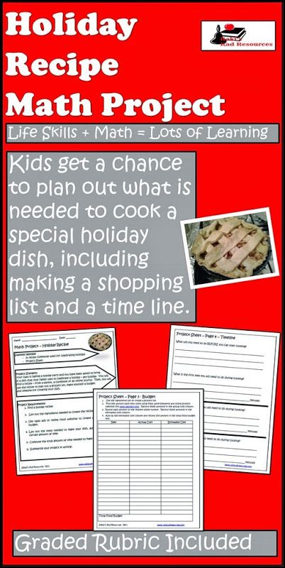 Holiday Recipe Project | Math/Classroom Ideas | Pinterest ...