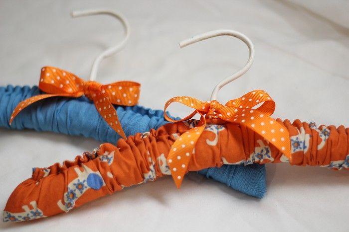 """Blue Doggy"" Baby Coat Hangers Set of 2 | Peck Designs | madeit.com.au"