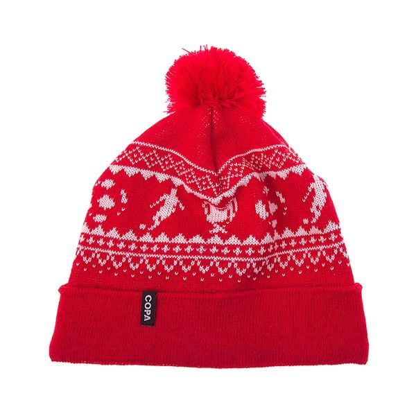 COPA Football - Nordic Knit Muts - Rood/ Wit - Sportus - Where Sport Meets Fashion