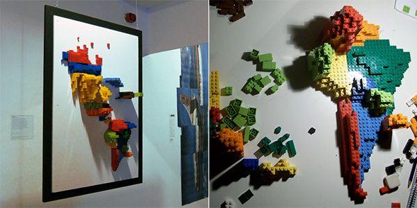 Lego Wall Map