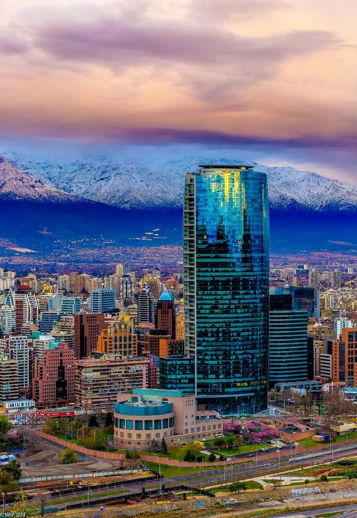 That massive building is where I work in Santiago de Chile