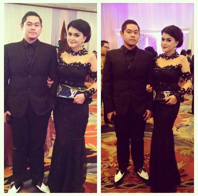Black dress #kebaya for wedding party #repost