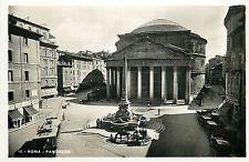 Italy 1930s Real Photo Postcard Roma Rome - Pantheon Cafe Bar della Rotonda