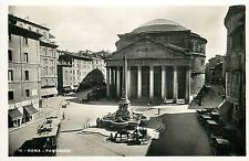 Italy 1930s Real Photo Postcard Roma Rome - Pantheon Cafe Bar della Rotonda