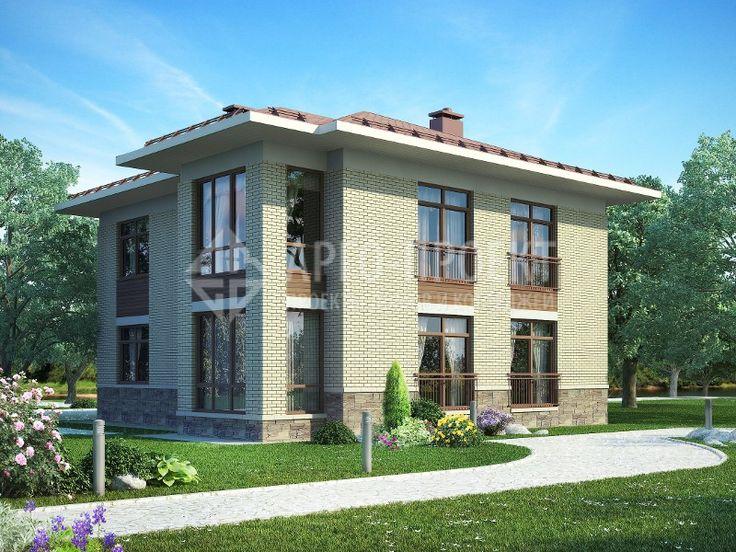 Проект  Проект дома 3-17 Современный двухэтажный особняк с рациональной планировкой