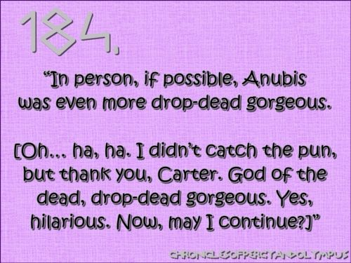 God of funerals = Drop-dead gorgeous ;)