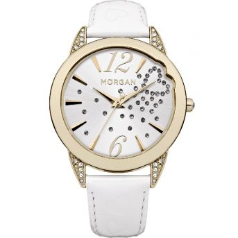 White Leather Watch - MORGAN WATCHES