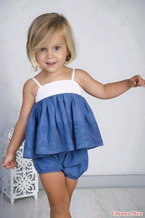 Повседневные платья для маленьких девочек