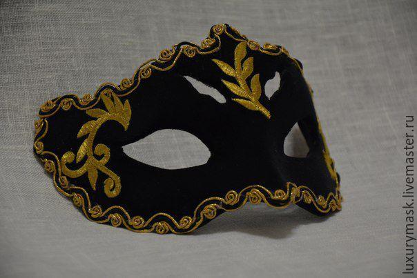 """Купить Карнавальная маска """" Тайна"""" - черный, карнавальная маска, бархат, венецианская маска, маскарад"""