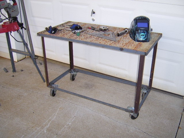 the grill design lets the slag and sparks fall through the table cuttingwelding table on the cheap weldingweb welding forum for pros and enthusiasts