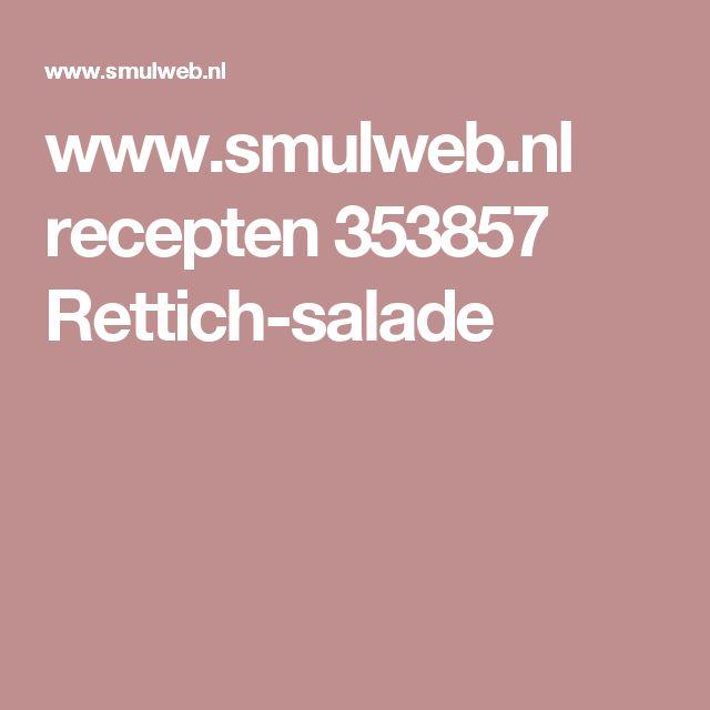 www.smulweb.nl recepten 353857 Rettich-salade